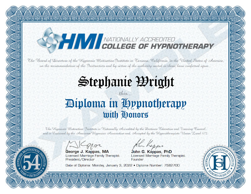 HMI Diploma in Hypnotherapy with Honors