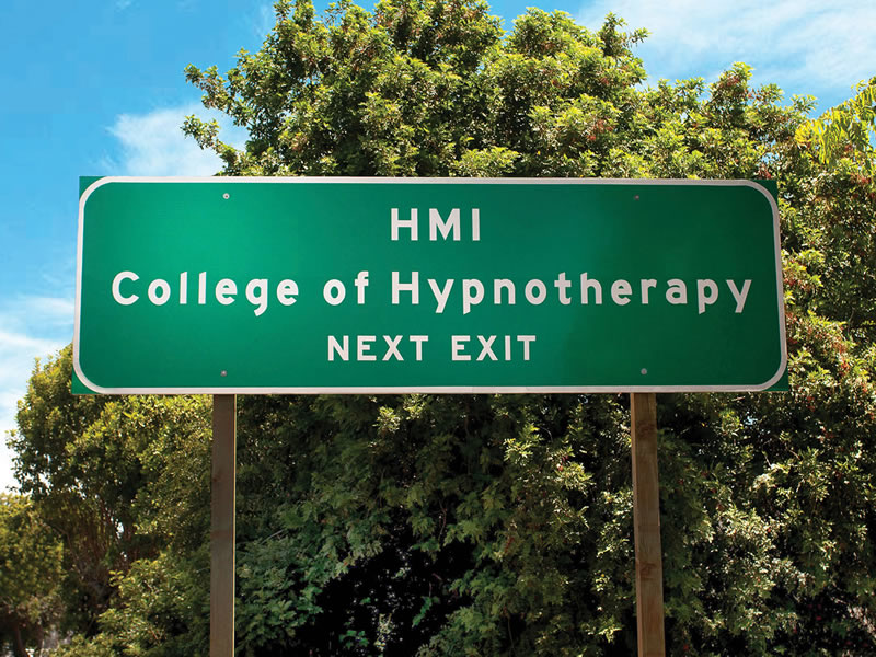 HMI College of Hypnotherapy California 101 Freeway Exit Sign