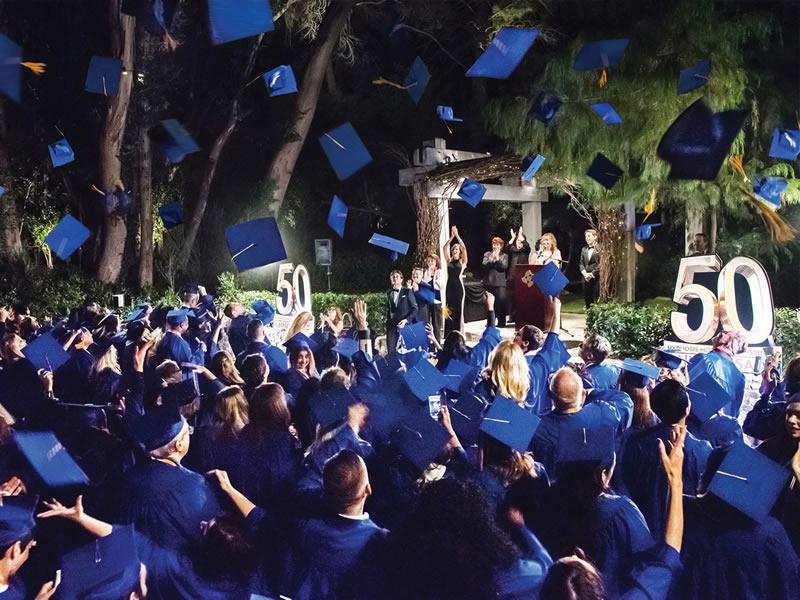 HMI Graduation Ceremonies Cap Tossing